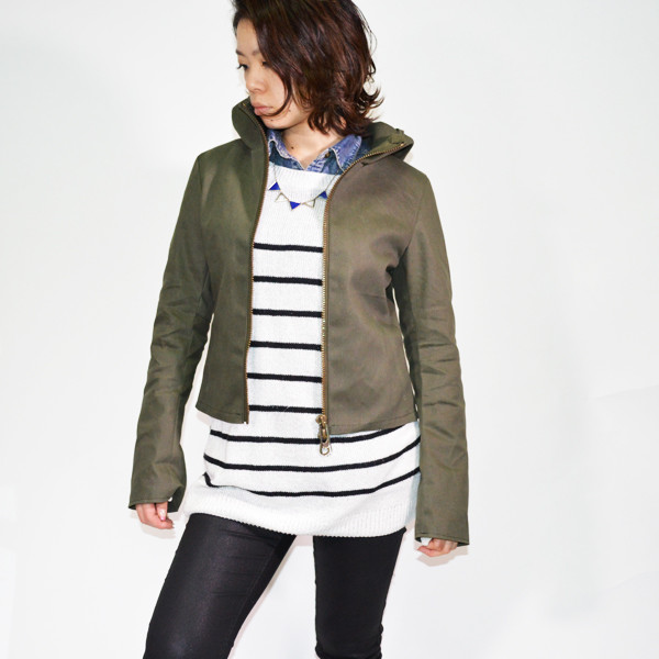 Dark(ダーク)-Water-proof-leather-hooded-jacket(防水レザーフードジャケット)Ladies'1