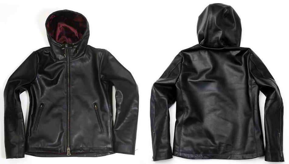 【Yami】 Water proof leather hooded jacket ※made-to-order(受注生産)